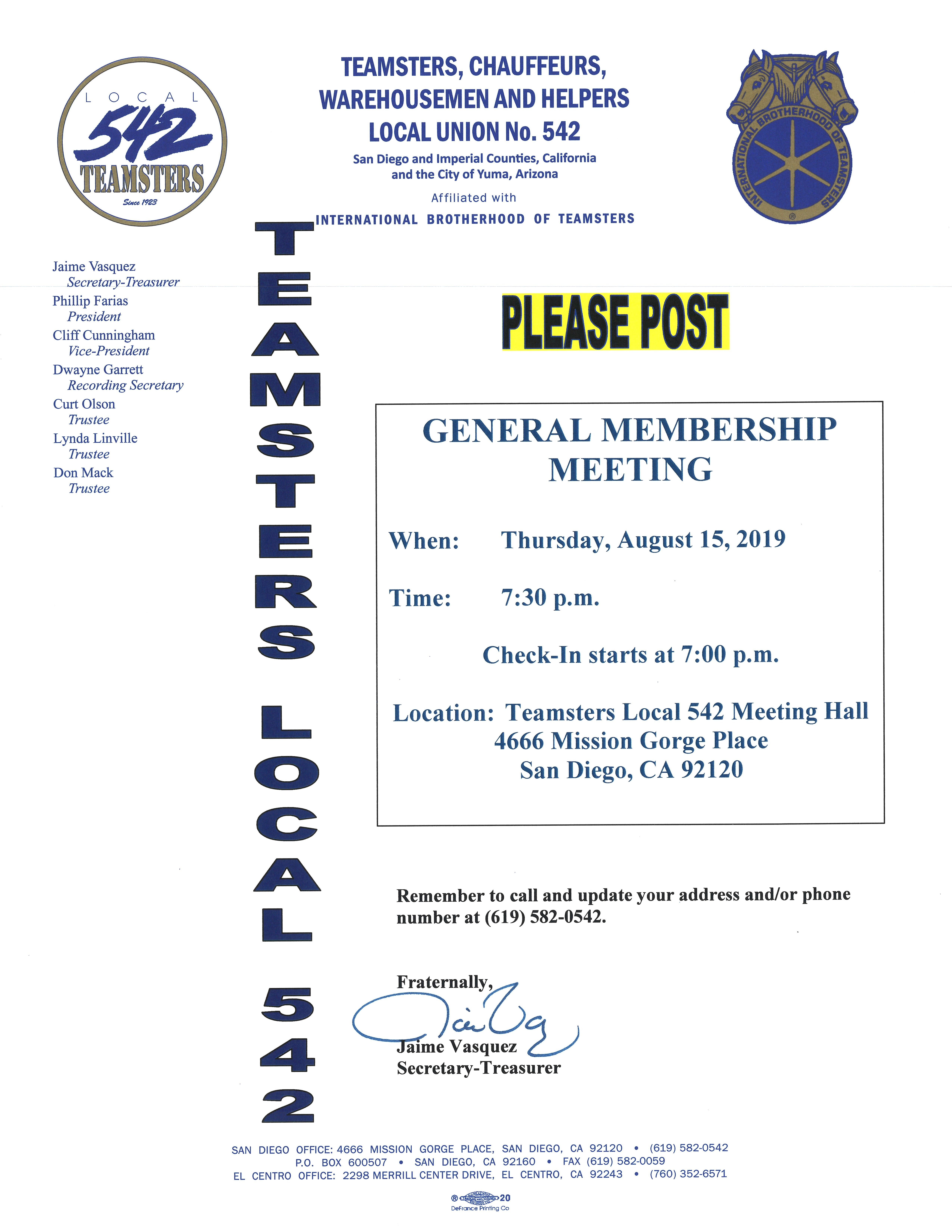 Teamsters Local 542